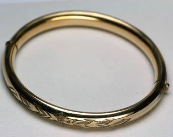 Vintage Gold Filled Bangel Bracelet