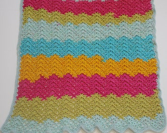 Ready to ship - Super soft Crochet Caron Cake Rainbow Ripple Blanket Newborn Baby Blanket, Photography Props Blanket, Car seat tent canopy