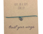 Dragonfly. Sterling silver hand stamped dragonfly bracelet on cord.