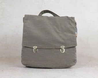 backpack diaper bag backpack, Canvas Satchel Backpack, canvas backpack, hipster backpack, gray canvas bag, gray backpack