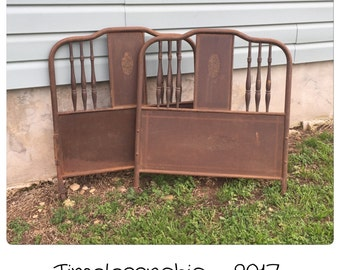 antique twin bed  etsy, Headboard designs