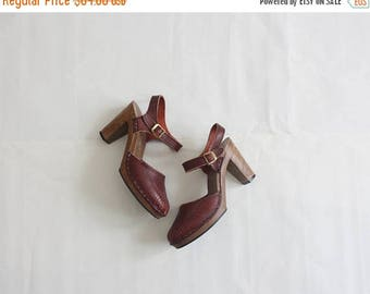 25% SALE oxblood leather sandals size 6