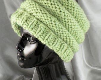 50% OFF SALE Instant Digital File pdf download Knitting Pattern -  Superfast Tier  Beanie Hat pdf download knitting pattern