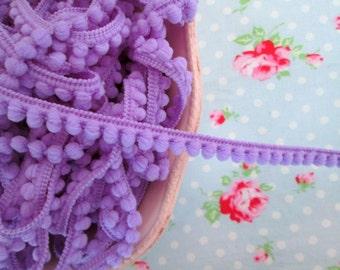 Baby Pom Pom Trim - Lavender - 1/4 inch Ball Fringe - 3 Yards