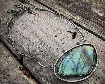 Custom Order Sterling Silver Labradorite Necklace Handmade By Joy Kruse Wild Prairie Silver