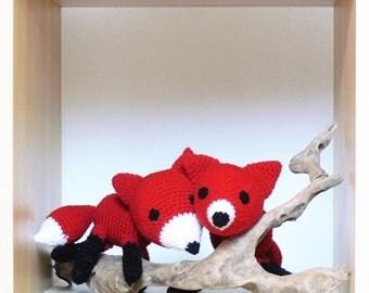 Crocheted fox