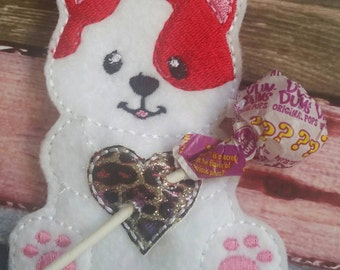 Cat Sucker Holder - Easter basket- Classroom Party Favor - Birthday Party Favor - magical - heart - lollipop - be mine - non food treat