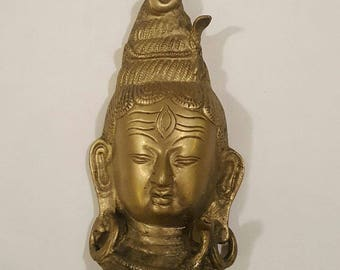 Vintage Brass Shiva Head with Cobras Wall Hanging ~ Susan G Komen Foundation