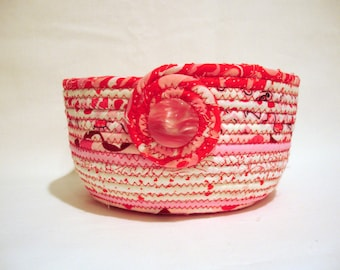 Valentine Pink Coiled Fabric Bowl