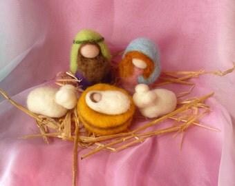 Steiner Nativity Scene - Waldorf - NZ Wool - Xmas