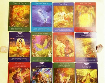 Year Ahead Angel Reading Tarot Cards Spiritual Guidance Email Same Day Fortune Telling Psychic Reading  12 Card Spread