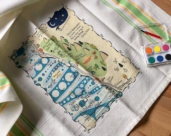 Big Sur Map Kitchen/Tea Towel
