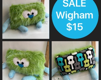 SALE Wigham the Pillow Pal Monster