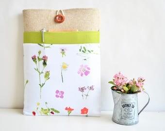 Floral Laptop Sleeve for MacBooks, Chromebooks, Surface, Dell, HP Laptops, Padded Laptop Case - Spring Flowers