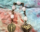 A Mothers Heart in Faceted Rose Quartz and Antiqued Brass. A Fundraiser for the Children of Jhamtse Gatsal
