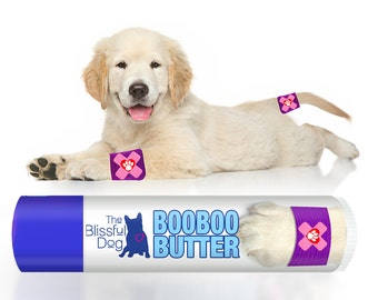 BOO BOO BUTTER All Natural Balm for your Dog's Itchy Skin Irritations, Ouches & Owies Choice: .15 oz Tube or 3-Pack of .15 oz Tubes