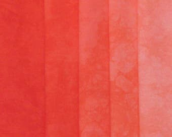 Hand Dyed Fabric Shades - Poppy