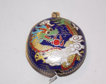 Vintage Asian Cloisonne Dragon Measuring Tape