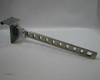 Vintage Over the Door Fold Down Chrome Folding Clothes Hook Rack Garment Bracket