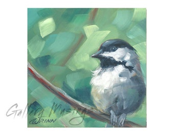 Digital Bird Painting, Chickadee you can Download