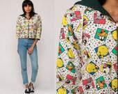 LOONEY TUNES Jacket Hoodie Sweatshirt Tweety Bird Sweater Bugs Bunny 90s Daffy Duck Cartoon Graphic Vintage Retro Extra Small xs