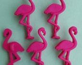 HOT PINK FLAMINGO Pastel Girl Bird Zoo Safari Animal Dress It Up Craft Buttons