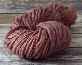 Slub Yarn, Thick and Thin Yarn, Hand Dyed Merino Yarn, Hand dyed Slub Yarn, Hand painted slub yarn, baby prop yarn, Antique Lavender