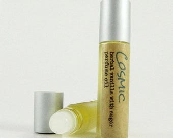 COSMIC Roll on Fragrance Oil for her / Sweet Herbal Vanilla Sugar Scent /  Womens roll on fragrance