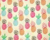 Timeless Treasures Pineapples Cotton Fabric - 1/2 yard