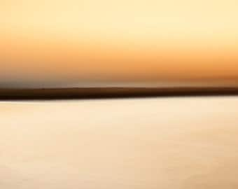 Orange Horizon II, zen photo, minimalist photo, abstract landscape, ready to hang canvas, oversized wall art, gallery wrap canvas