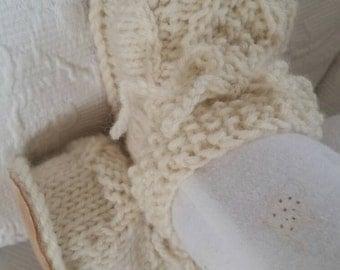Organic Irish design baby shoes size 6-9 months