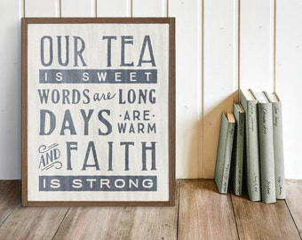 Poem of the South Farmhouse Sign | Southern Decor, Southern Saying, Fixer Upper, Joanna Gaines, Magnolia Farms, Sweet Tea, Christian Sign