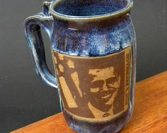 Large Stoneware Beer Mug  ~ President Obama Design~