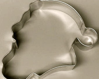 Santa face Cookie Cutter, Christmas cookie cutter, Santa head profile cookie cutter, Santa profile cookie cutter, Made in USA