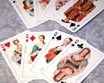 Vintage Playing Cards, Double Deck Set Piatnik Vienna Austria Henry VIII Louis XIV, Madame Pompadour, Marie Antoinette  Ephemera Supplies