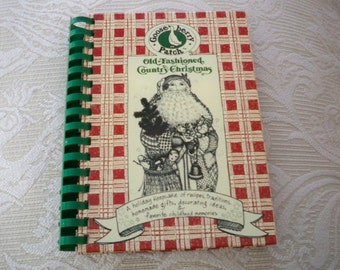 """Vintage Cookbook """"Old Fashioned Country Christmas"""" Gooseberry Patch 1992 Spiral Bound"""
