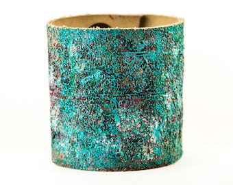 Tattoo Cover Turquoise Jewelry Cuff Boho Bracelets For Women