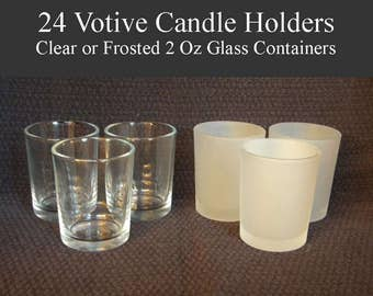 Votive Candle Holders, Votive Holders, Candle Cups, Votive Cups, Empty Candle Container, Glass Votives, Candle Holders Small
