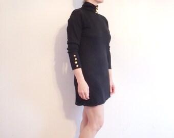 Dress Vintage Black Gold 1990s
