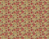NEW Liberty Hill Quilt Fabric 100% Cotton Americana  One Yard Cut of Coordinating Floral on Tan