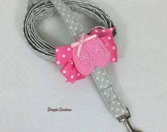 Beautiful Ballerina Dog Leash With Bow 5' by Doogie Couture Pet Boutique