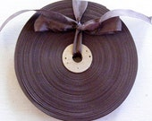 Vintage 1930's-40's French Woven Ribbon -Milliners Stock- 5/8 Inch Gorgeous Cocoa Plum