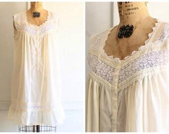 90s vintage Eileen West cotton nightgown