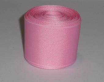 Pink 1.5 inch Solid Grosgrain Ribbon 10 Yards