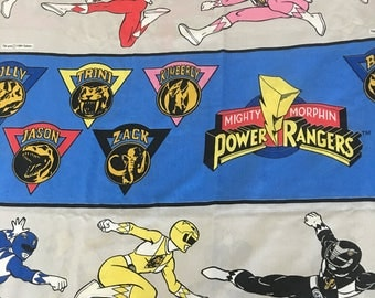 Go Go Power Rangers...Twin Flat Sheet