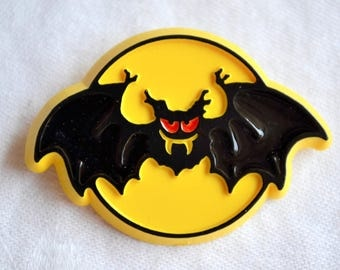 Vintage Halloween Pin Brooch - Bat Moon 1981 Hallmark