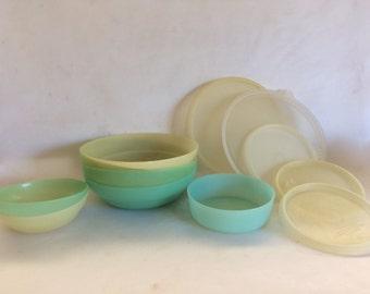 Vintage Pastel Tupperware Bowls