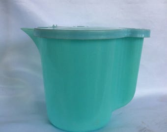 Vintage Tupperware Turquoise Pitcher