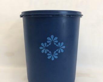 Vintage Cobalt Blue Tupperware Canister