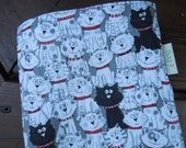 Reusable sandwich and/or snack bag - Reusable snack bag - Eco friendly sandwich bags - Reusable bags set - Black and white cats